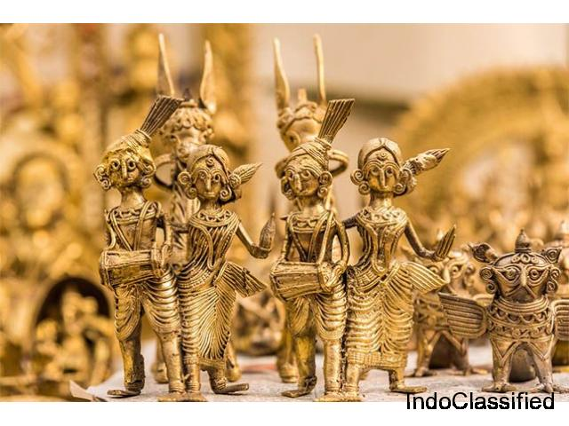 The artistic shine of tribal metal handicrafts