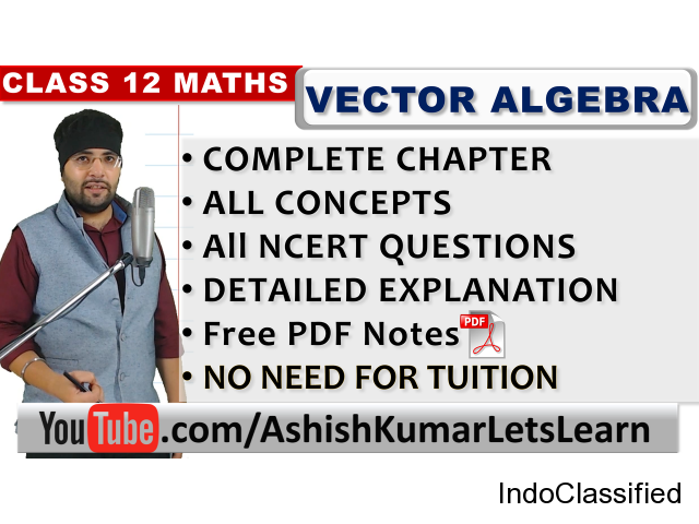 Free Online Tutorials for Vector Algebra Class 12 Maths