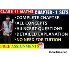 Online Tutorials for Sets Class 11 Maths