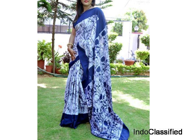 Latest Batik Print Sarees 2019 Online | Paarijaatham | Batik sarees | Rajasthani sarees