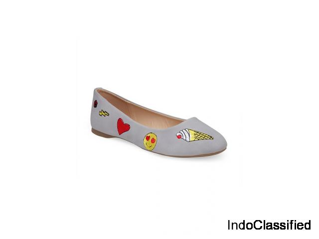 Buy Women's Grey Ballerinas at London Rag India
