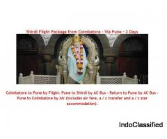 Shirdi Flight Package from Coimbatore - Via Pune - 2 Days