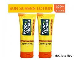 Buy Ayurvedic Sunscreen Lotion In India | Roop Mantra