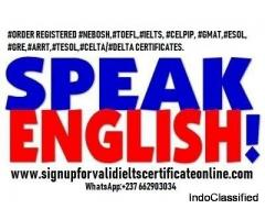 Get IELTS certificates  WhatApp +237691190538