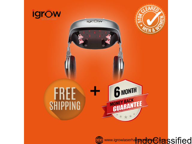 iGrow laser hair growth treatment at home in India