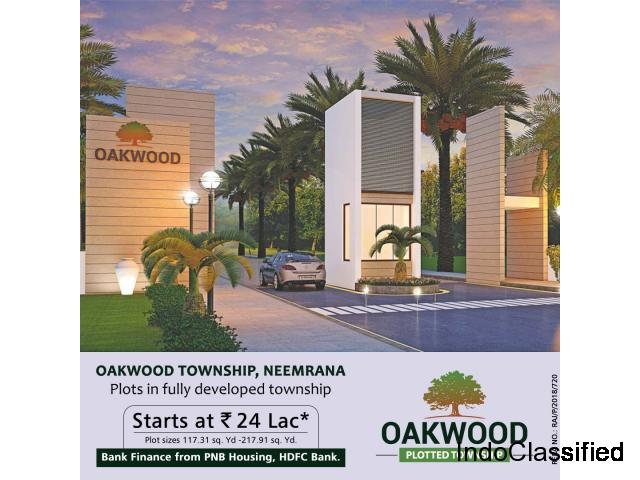 Book Your Plots in Oakwood Neemrana at reasonable price