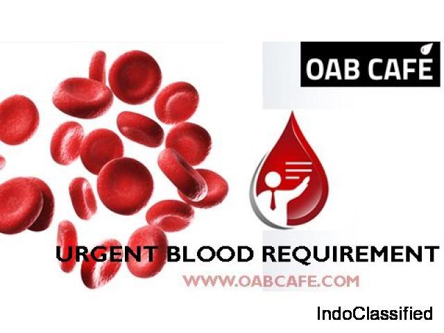 urgent blood requirement