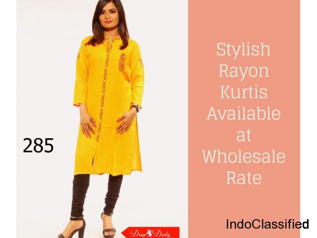 Stylish Rayon Kurtis Available at Wholesale Rate