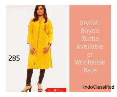 Stylish Rayon Kurtis Available at Wholesale Rate