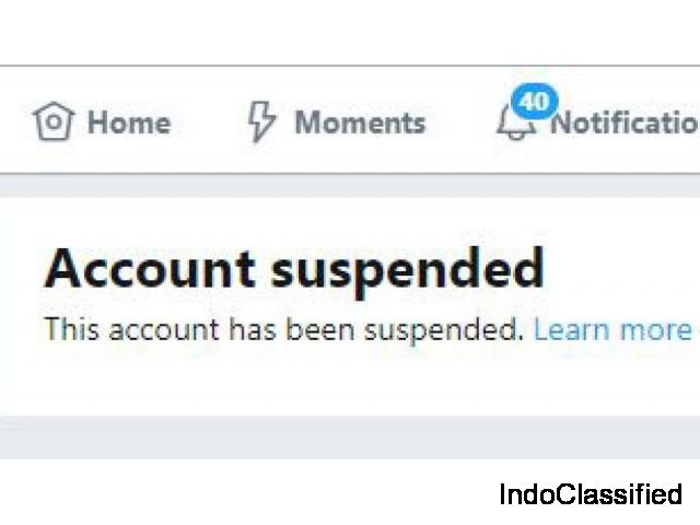 How To Recover Suspended Twitter Account