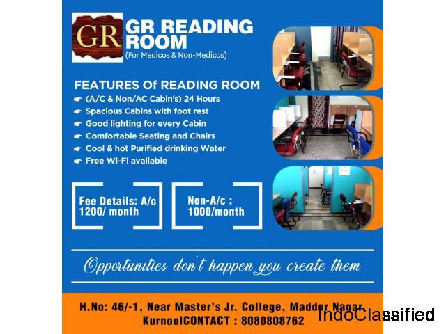 Reading Rooms in Kurnool || GR Reading Rooms in kurnool