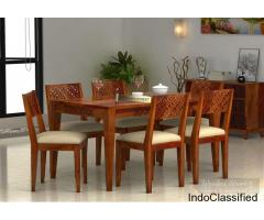 Big Sale!! Buy solid wood dining table set online @ Low Price