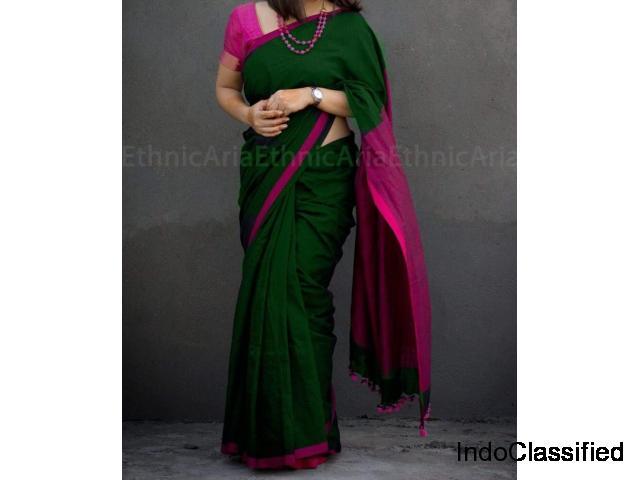 Bengal Cotton Sarees 2019 Online   Handloom sarees   Paarijaatham   Bengal sarees wholesale