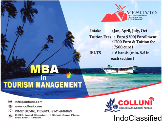 Study MBA in Tourism Management in Italy