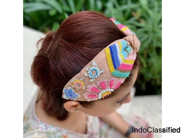 Buy Phi Phi Turtles Peach Turban Headband Online India