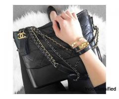 Chanel Mini Patent Flap Bag Chevron In Metallic With Silver HW