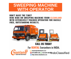 Sweeping Machine with Operator