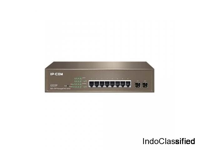 IP-COM Managed PoE Switch Available on Dvcomm in India