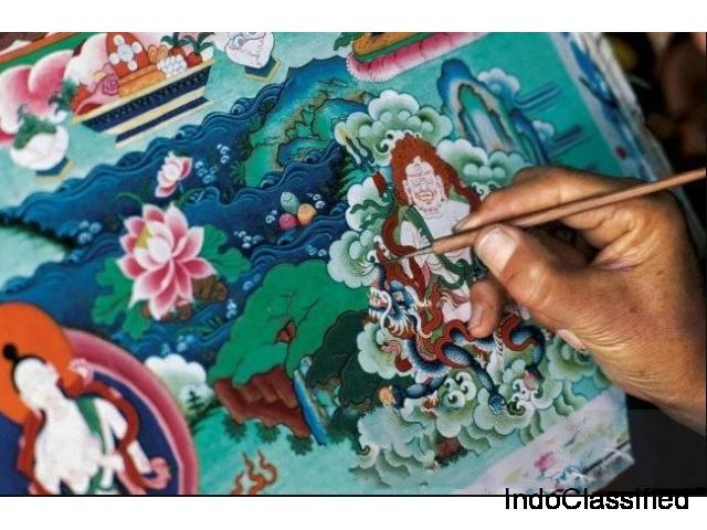 Thangka Tribal Art Paintings - Tribes India