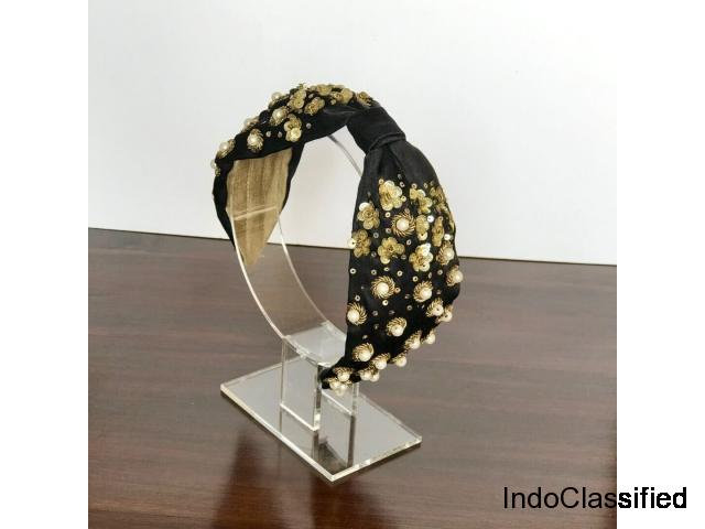 Buy Rachel Black Headbands for Women Online