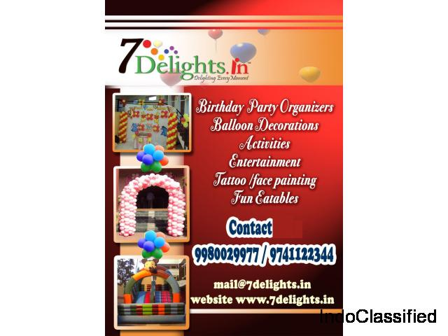 Birthday Party & Corporate Event Organizers in Bangalore
