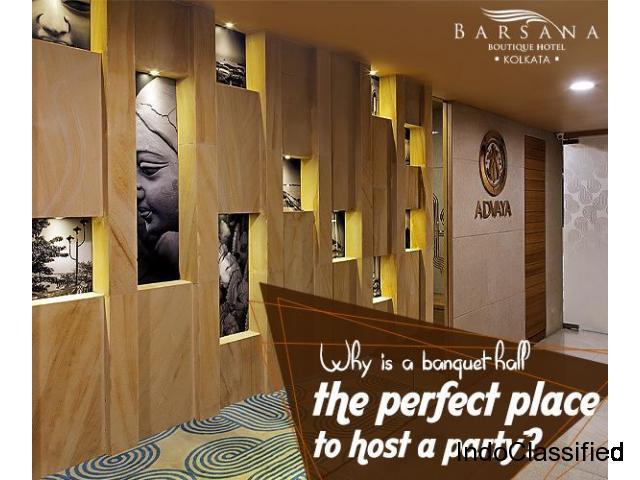 A Feature-rich Banquet Hall in Kolkata - Barsana Hotel