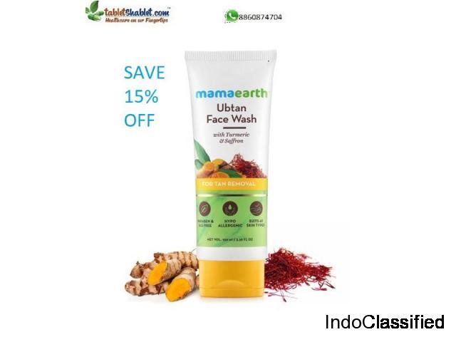 Buy Mamaearth Ubtan Facewash & Save 15% |TabletShablet