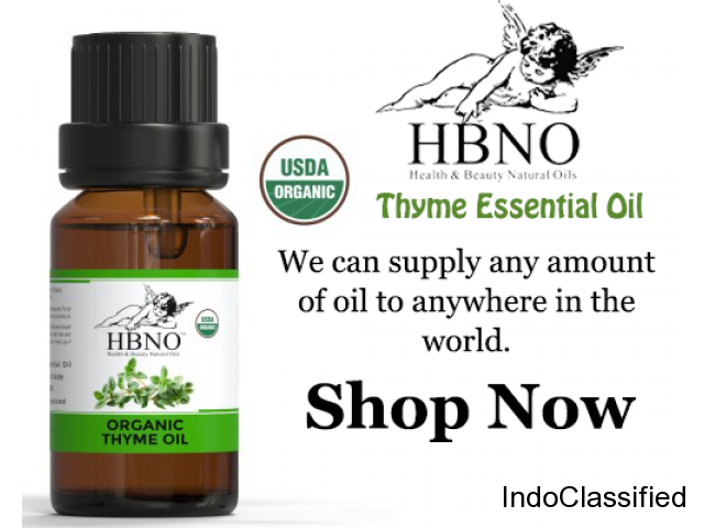 Shop Now! Organic Thyme Essential Oil Wholesale at Best Price