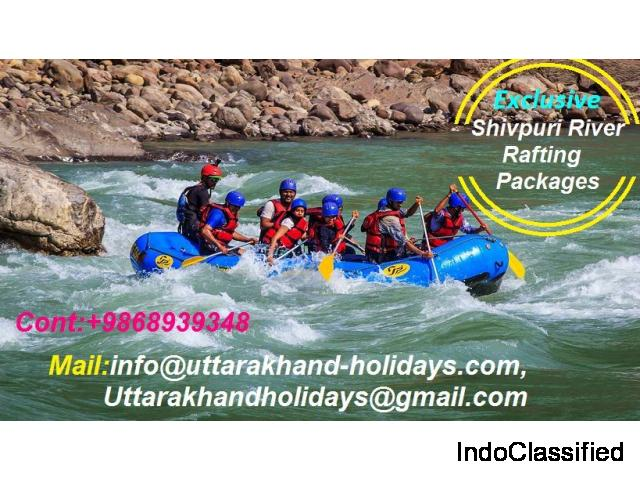 Book Adventurous Shivpuri River Rafting Packages with Uttarakhand Holidays Pvt. Ltd.