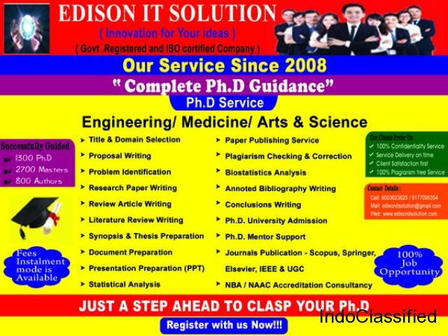 EDISON IT SOLUTIONS IS THE ONLY PLACE FOR YOUR COMPLETE PH.D RESEARCH