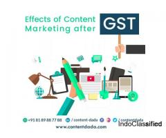 Effects of Content Marketing after GST