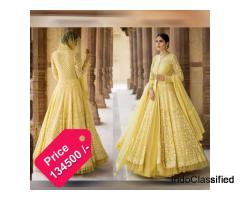 Get Online Yellow Net Indo Western Dress From Vasansi Jaipur