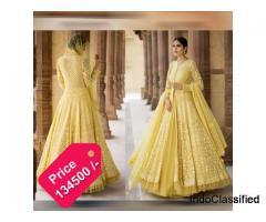 Get Online Yellow Net Indo Western Dress From Vasansi Jaipur