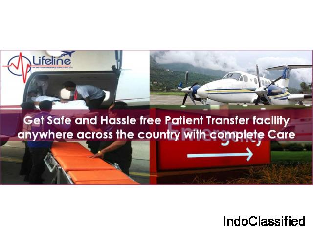 Lifeline Air Ambulance in Lucknow Assist Critical Patient Comprehensively