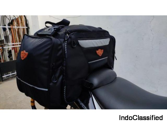 Motorbike tank bags|tail bags|saddlebags|dufflebags|side bags in Hyderabad|India