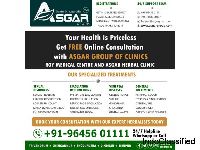 Sexologist Hakim M. Asgar Ali's ROY MEDICAL CENTRE(A unit of ASGAR GROUP)