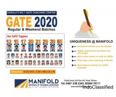 CRACK GATE 2020: Join No.1 Institute in Kerala|Manifold