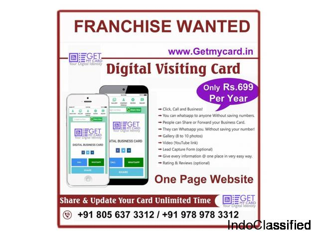 Digital business card to promote your business out side city in just 699/-
