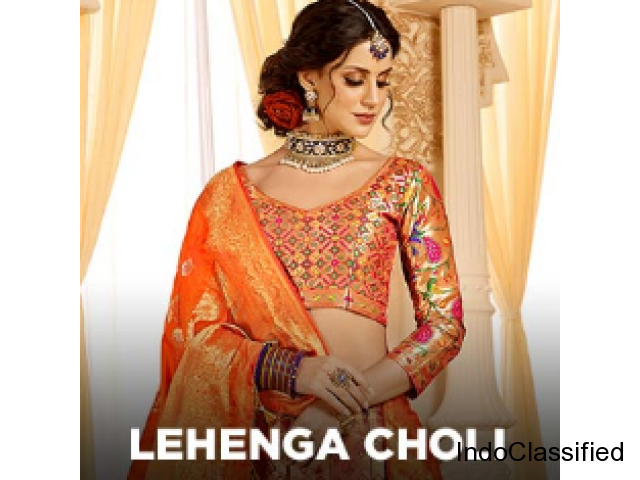 Peach Color Silk Fabric Lovely Lehenga Cum Suit