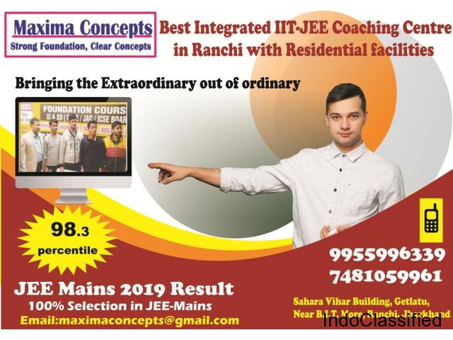 Most experienced Faculty team with 100% result in IIT-JEE (mains) 2019.