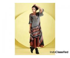 Grey Hue Cotton Silk Designer Kurti