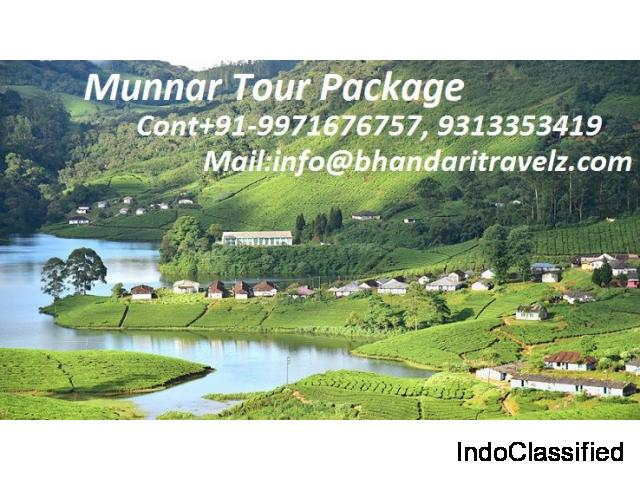 Explore Munnar Tour Package with Bhandari Travelz Pvt. Ltd