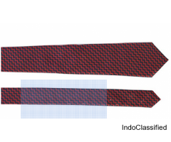 Men's Corporate red & Blue Chequer Aarogyaa Micro Zacard Silk Tie Neck Set