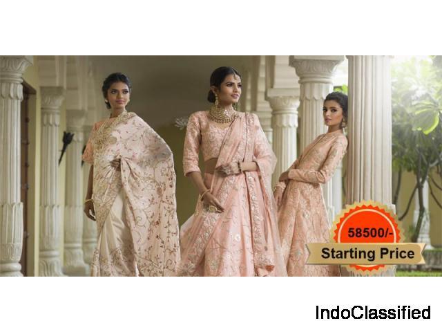Vasansi Jaipur Pink Linen Lehenga Online