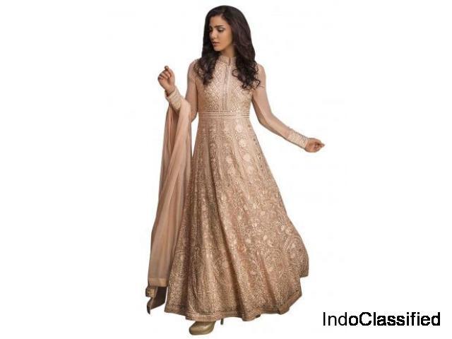 Buy Rose Peach Anarkali Suit- Kalki Fashion