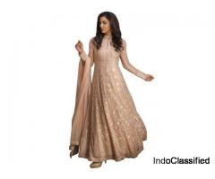 Buy Rose Peach Anarkali Suit- Kalki Fashion