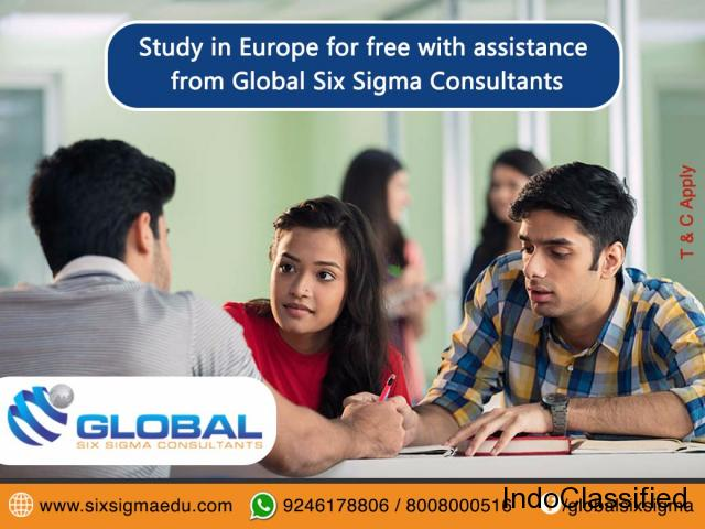 Study Masters in Europe for free through Global Six Sigma Consultants | Global Six Sigma