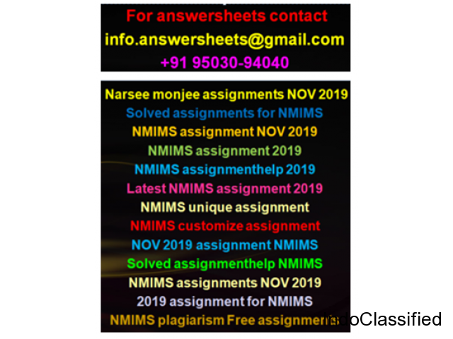 2019 assignment for NMIMS