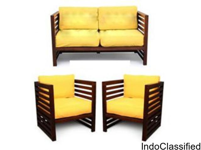 wooden furnitures - cot, bureau, sofa