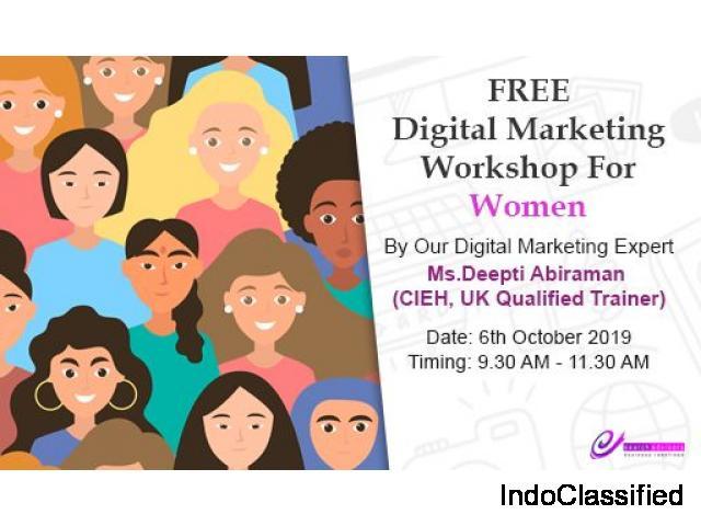Free Digital Marketing Workshop for Women (Only)